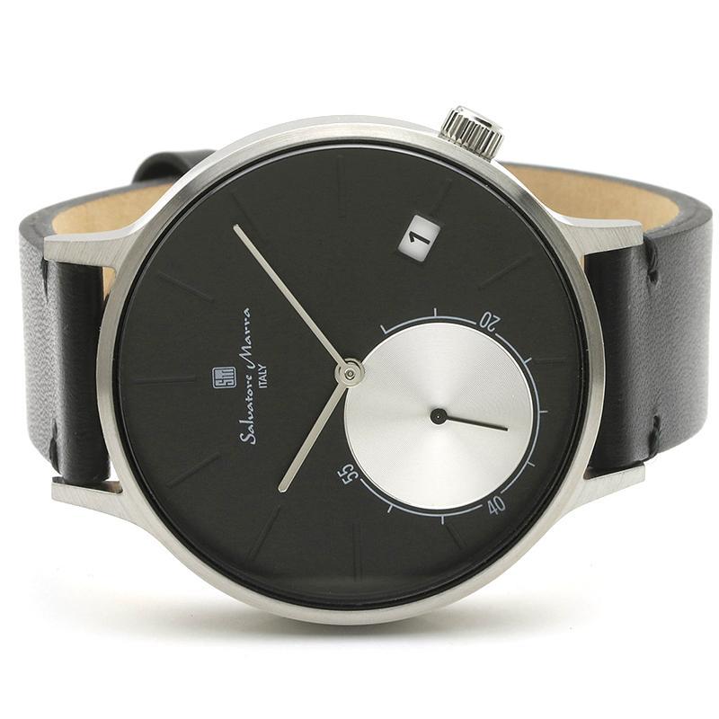 新品 2年保証 送料無料 Salvatore Marra サルバトーレマーラ 腕時計 SM20105 SM20105-SSBK ユニセックス ステンレス|kougasyou|02