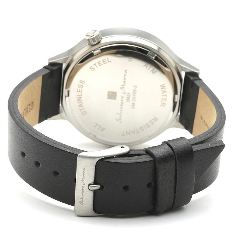 新品 2年保証 送料無料 Salvatore Marra サルバトーレマーラ 腕時計 SM20105 SM20105-SSBK ユニセックス ステンレス|kougasyou|03