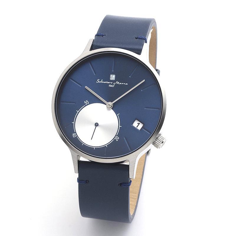 新品 2年保証 送料無料 Salvatore Marra サルバトーレマーラ 腕時計 SM20105 SM20105-SSBL ユニセックス ステンレス kougasyou