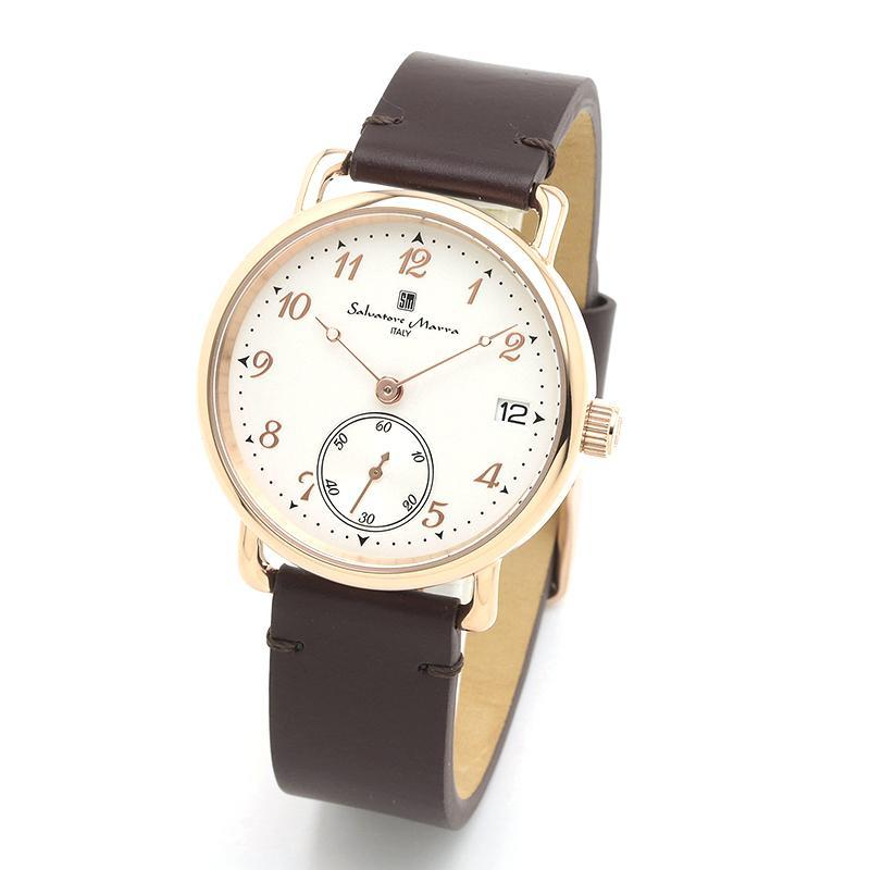 新品 2年保証 送料無料 Salvatore Marra サルバトーレマーラ 腕時計 SM20106 SM20106-PGWHBR ユニセックス ステンレス kougasyou