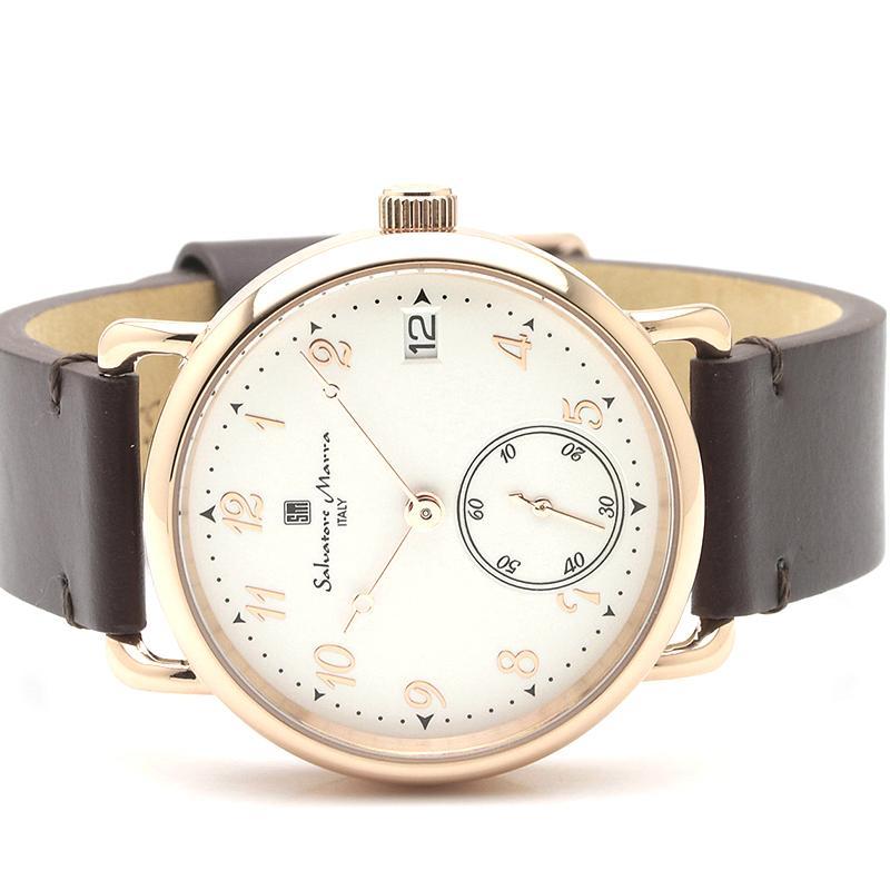 新品 2年保証 送料無料 Salvatore Marra サルバトーレマーラ 腕時計 SM20106 SM20106-PGWHBR ユニセックス ステンレス kougasyou 02