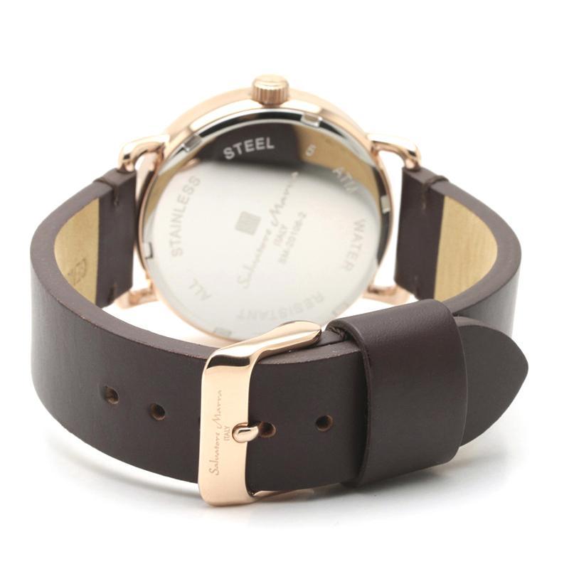 新品 2年保証 送料無料 Salvatore Marra サルバトーレマーラ 腕時計 SM20106 SM20106-PGWHBR ユニセックス ステンレス kougasyou 03