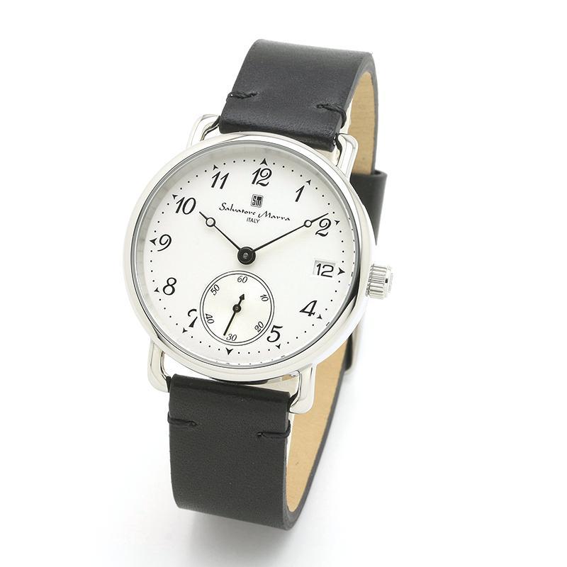新品 2年保証 送料無料 Salvatore Marra サルバトーレマーラ 腕時計 SM20106 SM20106-SSWHBK ユニセックス ステンレス kougasyou