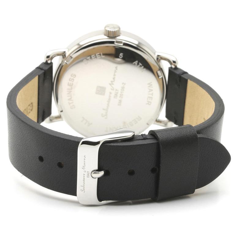 新品 2年保証 送料無料 Salvatore Marra サルバトーレマーラ 腕時計 SM20106 SM20106-SSWHBK ユニセックス ステンレス kougasyou 03