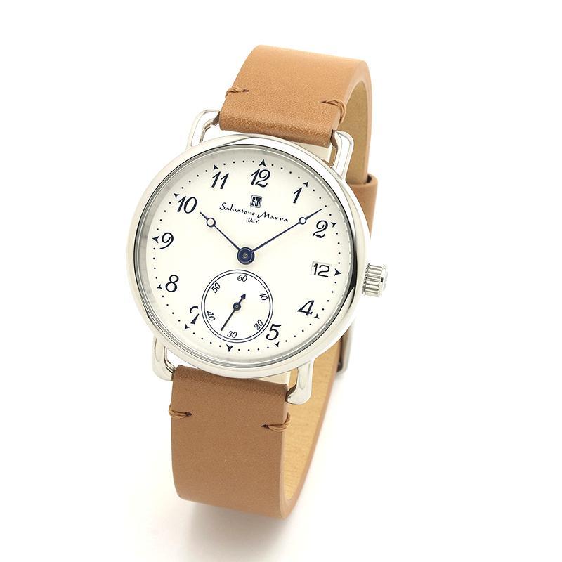 新品 2年保証 送料無料 Salvatore Marra サルバトーレマーラ 腕時計 SM20106 SM20106-SSWHBR ユニセックス ステンレス kougasyou