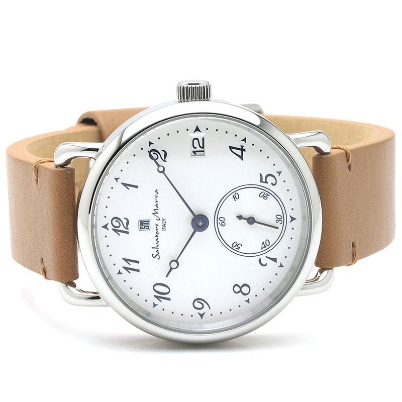 新品 2年保証 送料無料 Salvatore Marra サルバトーレマーラ 腕時計 SM20106 SM20106-SSWHBR ユニセックス ステンレス kougasyou 02