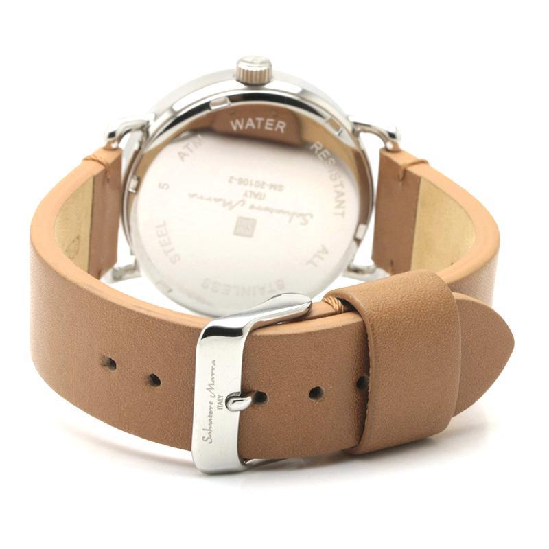 新品 2年保証 送料無料 Salvatore Marra サルバトーレマーラ 腕時計 SM20106 SM20106-SSWHBR ユニセックス ステンレス kougasyou 03