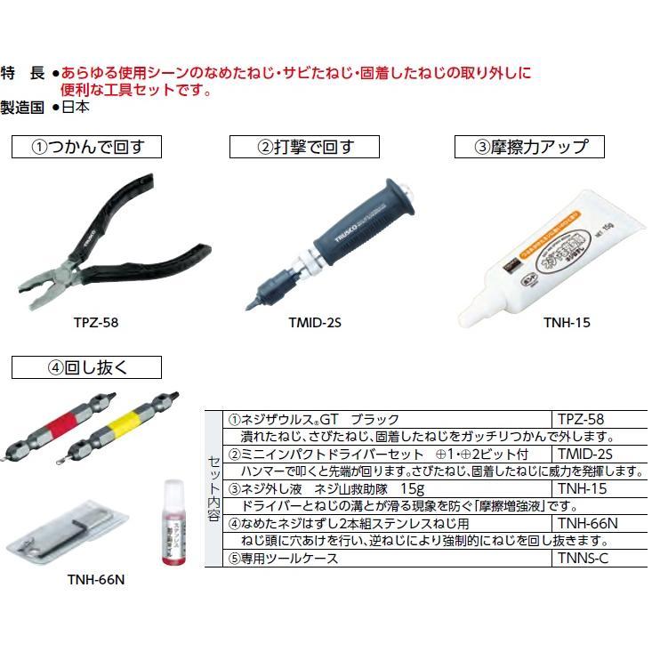 トラスコ(TRUSCO) なめたネジはずし工具セット5点 型式;TNNS-5|kougu-shop|02
