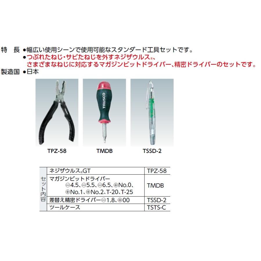 トラスコ(TRUSCO) スタンダード工具セット3点 型式;TSTS-3 kougu-shop 03