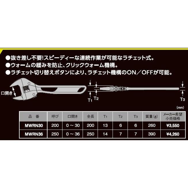ラチェット式ワイルドモンキレンチMWRN30|kougu-shop|02