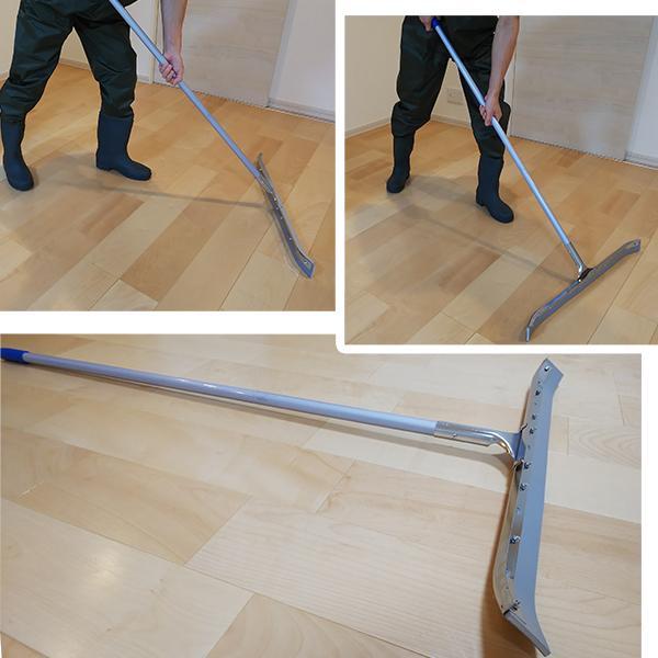 水切りワイパー 湾曲型 泥かき 水切りモップ 床用 コンクリート床 ...