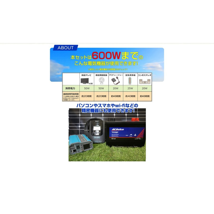 ソーラーパネル 300w 自作DIY用初めてセット|kouguitiba|05