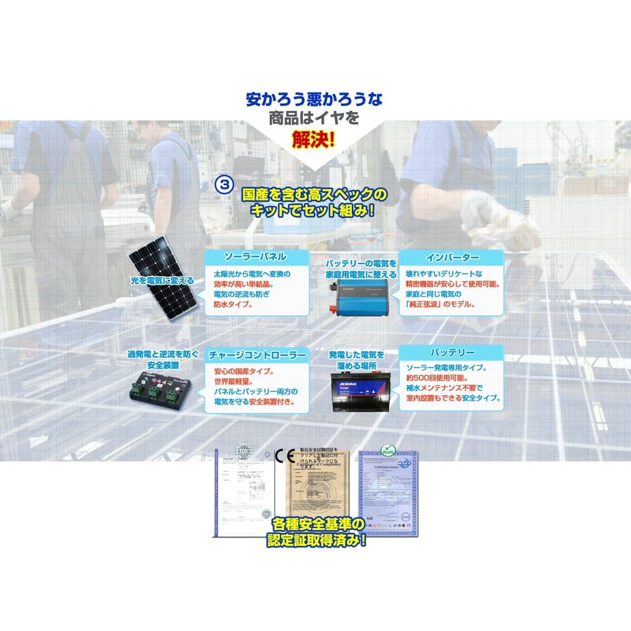 ソーラーパネル 300w 自作DIY用初めてセット|kouguitiba|10