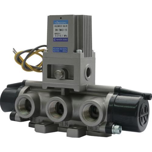 日本精器 4方向電磁弁15AAC100V7Mシリーズシングル (1台) 品番:BN-7M43-15-E100