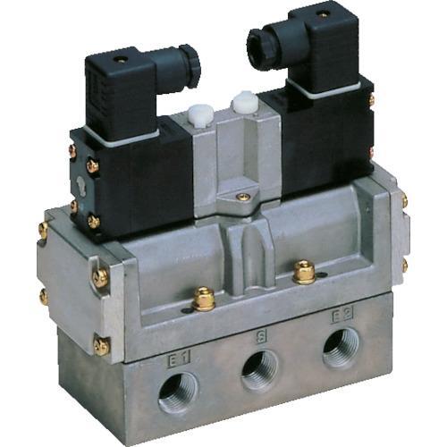 CKD 4Fシリーズパイロット式5ポート弁セレックスバルブ (1台) 品番:4F420-10-AC100V