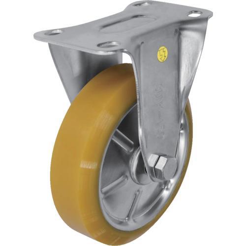 シシク ステンレスキャスター 制電性ウレタン車輪付固定 (1個) 品番:SUNK-150-SEUW