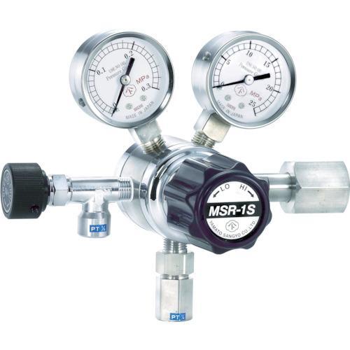 ヤマト 分析機用二段圧力調整器 MSR−1S (1個) 品番:MSR1S13TRC