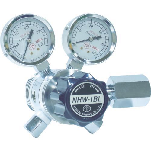 ヤマト 分析機用フィン付二段微圧調整器 NHW−1BL (1個) 品番:NHW1BLTRC