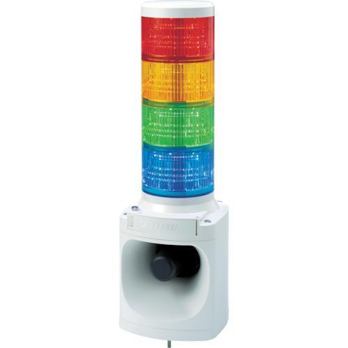パトライト LED積層信号灯付き電子音報知器 (1台) 品番:LKEH-410FA-RYGB