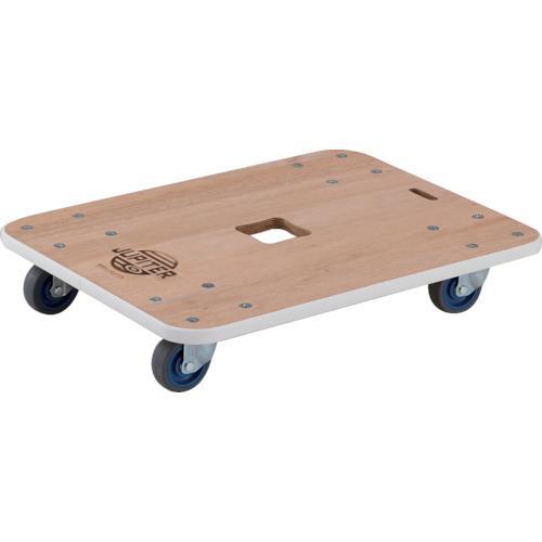 トラスコ 木製平台車 ジュピター 600X450 φ75 200kg (1台) 品番:JUP-6045-200