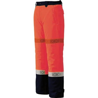 ジーベック 800 高視認防水防寒パンツ 3L オレンジ800-82-3L
