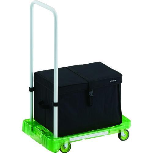 TRUSCO 樹脂台車 アクロキャリー PC製 省音車輪 600X390 グリーン透明 THB付 AC-1PC-GN-THB·代引不可·