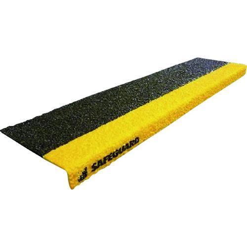 セーフガード 階段用滑り止めカバー 914×225×25mm 黒黄 鉄板設置用取付ネジ付属 12093-S