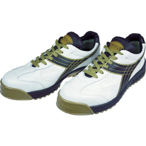 ディアドラ DIADORA 安全作業靴 ピーコック 白/黒 24.5cm PC12-245