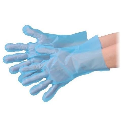 【ポイント15倍】 エブノ ポリエチレン手袋 No.3054 L ブルー (100枚×60箱) エブケアエンボス絞り 箱入 青