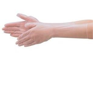 【大箱特価】 エブノ PVC手袋 No.190 S 半透明 (100枚×10袋) ミクロファースト PVCロンググローブ パウダーフリー 非フタル酸