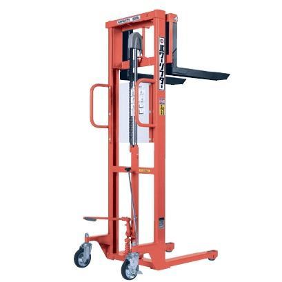【直送品】 をくだ屋技研 (OPK) 手動式パワーリフター (エコノミータイプ) PL-H500-12S オレンジ色