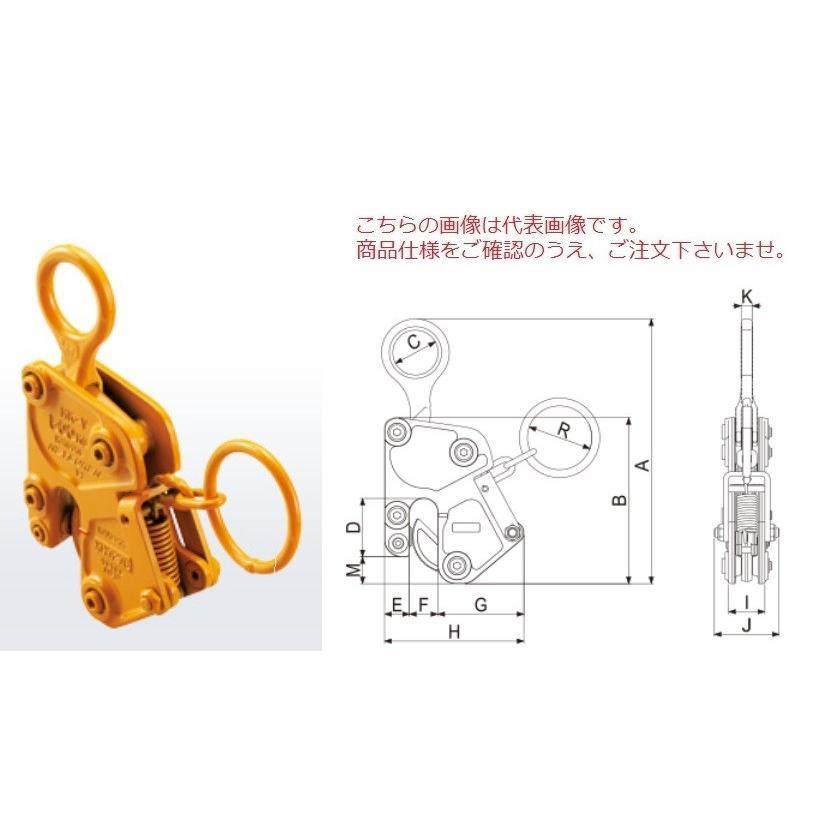 【ポイント15倍】 三木ネツレン 鋼板竪吊クランプ MK-V型500KG (A2099) (手動ロック式)