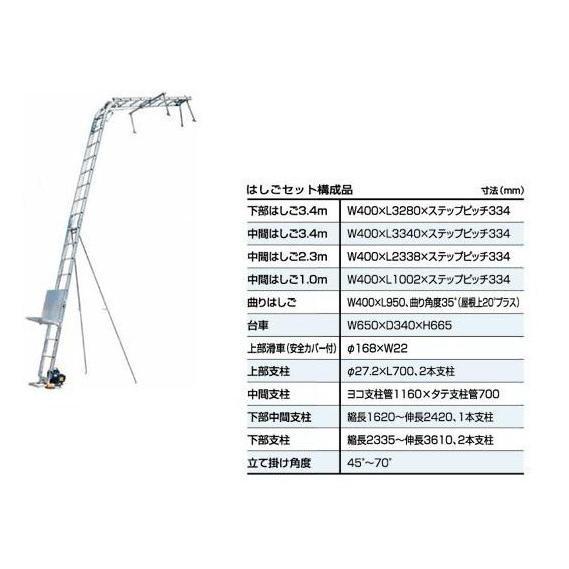 【ポイント15倍】 【直送品】 PiCa (ピカ) 荷揚げ機 マイティパワー AL4-MD2N