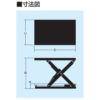 【ポイント15倍】 【直送品】 をくだ屋技研 (OPK) リフトテーブルコティ (LT-Eタイプ) LT-E100-0613