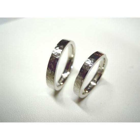 プラチナ 結婚指輪【本物の鍛造】打ち出した細かい槌目が美しい!ハンマリング技術を駆使した叩き出し|kouki|04