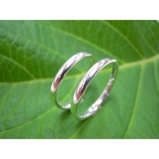プラチナ 結婚指輪【本物の鍛造】シンプルで昔から人気の甲丸デザイン!細め2.5ミリ幅&滑らかで最高の付け心地!|kouki