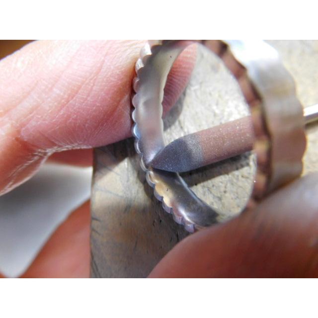 プラチナ 結婚指輪【本物の鍛造】ウエディングドレスをモチーフ!艶消し純白のフリルが凄く可愛い! kouki 20