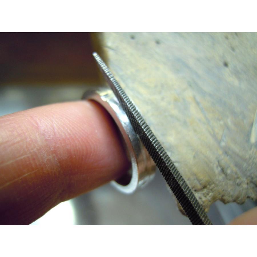 プラチナ 結婚指輪【本物の鍛造】白いクロスが神秘的で美しい!艶消し&光沢のコンビでクロスが映える!|kouki|18