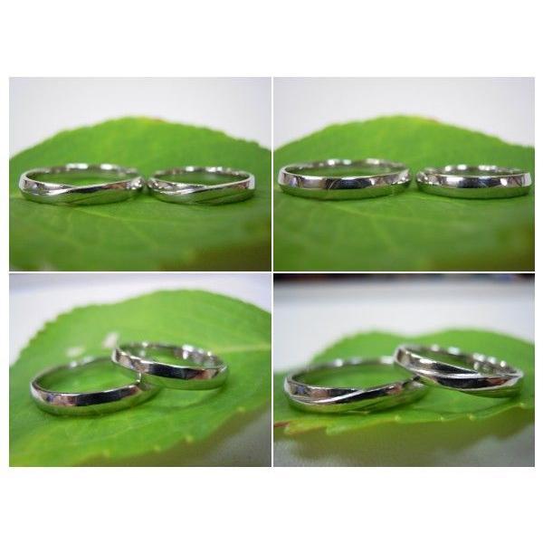 プラチナ 結婚指輪【本物の鍛造】ひねったツイストのラインが美しい曲線美!指輪の三角フォルムも可愛い!|kouki|05