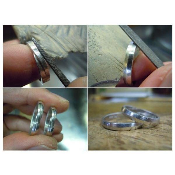 プラチナ 結婚指輪【本物の鍛造】ひねったツイストのラインが美しい曲線美!指輪の三角フォルムも可愛い!|kouki|06