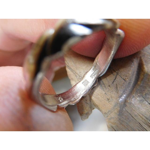 プラチナ 結婚指輪【本物の鍛造】丸みを帯びた可愛い羽根のデザイン!2種類の羽根を組み合わせたデザイン|kouki|17