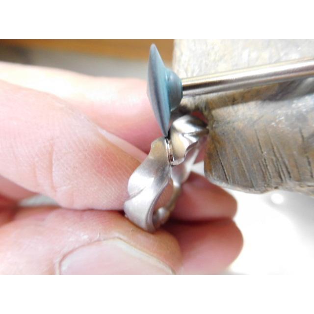 プラチナ 結婚指輪【本物の鍛造】丸みを帯びた可愛い羽根のデザイン!2種類の羽根を組み合わせたデザイン|kouki|20