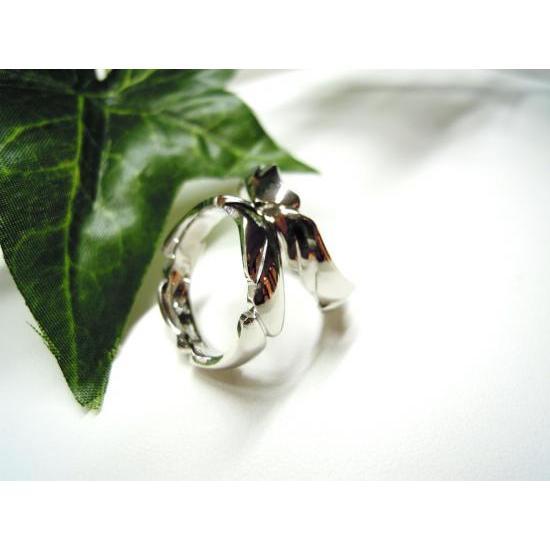 プラチナ 結婚指輪【本物の鍛造】丸みを帯びた可愛い羽根のデザイン!2種類の羽根を組み合わせたデザイン|kouki|05