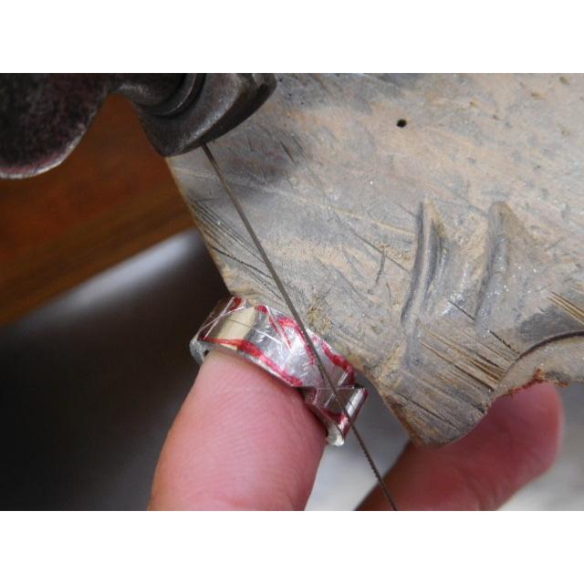 プラチナ 結婚指輪【本物の鍛造】丸みを帯びた可愛い羽根のデザイン!2種類の羽根を組み合わせたデザイン|kouki|07