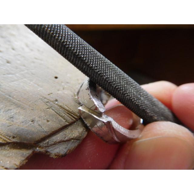 プラチナ 結婚指輪【本物の鍛造】丸みを帯びた可愛い羽根のデザイン!2種類の羽根を組み合わせたデザイン|kouki|09