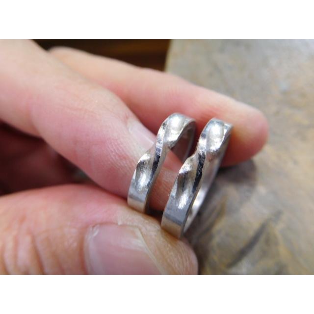 プラチナ 結婚指輪【本物の鍛造】インフィニティの光るラインが美しい!全体を艶消しでインフィニティが輝く!|kouki|20