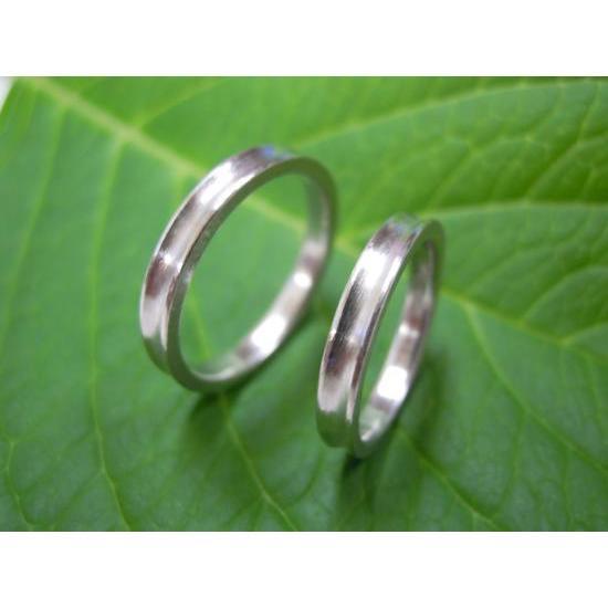 プラチナ 結婚指輪【本物の鍛造】珍しい荒仕上げの逆甲丸デザイン!逆甲丸の光り方がGOODで格好いい! kouki