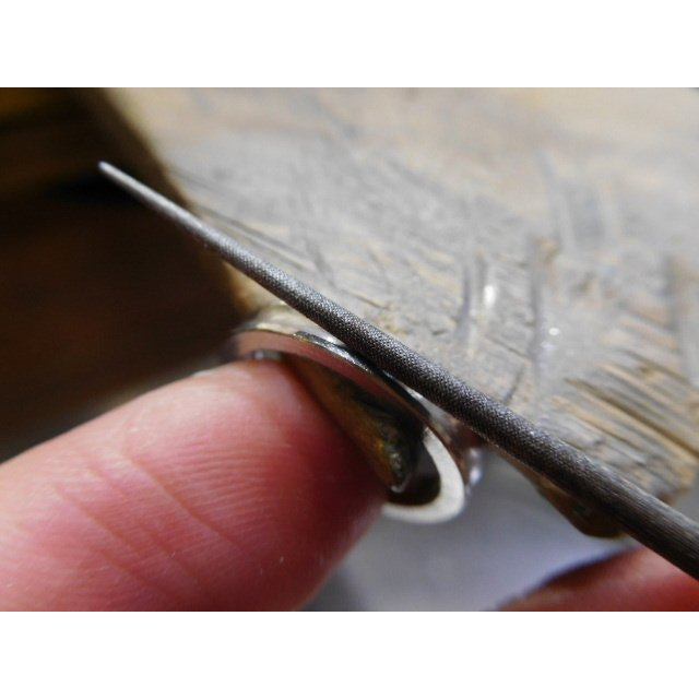 プラチナ 結婚指輪【本物の鍛造】珍しい荒仕上げの逆甲丸デザイン!逆甲丸の光り方がGOODで格好いい! kouki 19