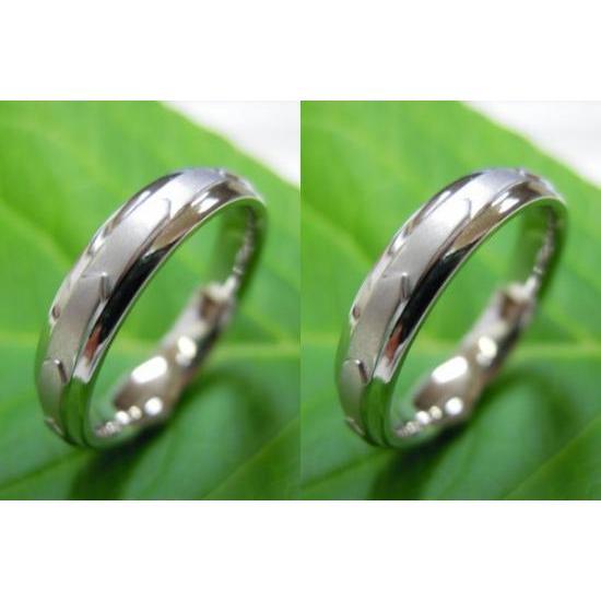プラチナ 結婚指輪【本物の鍛造】日本伝統模様の1つ矢絣-やがすり(矢羽根柄)を立体的にアレンジ!|kouki