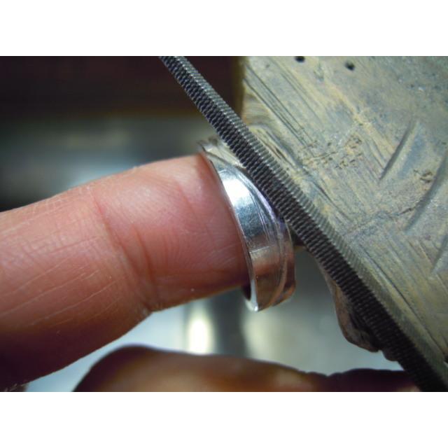 プラチナ 結婚指輪【本物の鍛造】荒削りのイーグルフェザーがお洒落で格好いい!イーグルの翼は愛の象徴! kouki 17